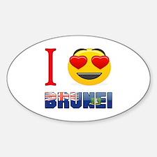 I love Brunei Sticker (Oval)
