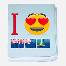 I love British Virgin Islands baby blanket