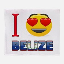 I love Belize Throw Blanket