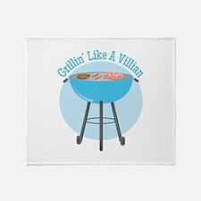 Grillin Villian Throw Blanket