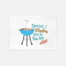 Steaks In Air 5'x7'Area Rug