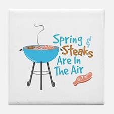 Steaks In Air Tile Coaster