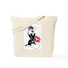 Sexy Tattooed Pirate Girl Tote Bag