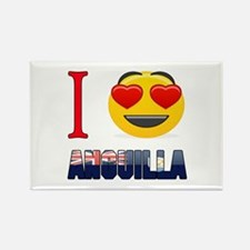 I love Anguilla Rectangle Magnet