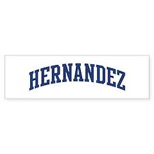HERNANDEZ design (blue) Bumper Stickers