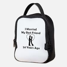 I Married My Best Friend 24 Yea Neoprene Lunch Bag