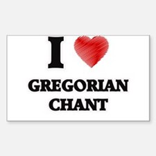 I Love Gregorian Chant Decal