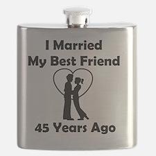 I Married My Best Friend 45 Years Ago Flask