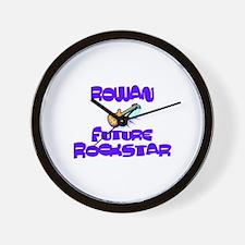 Rowan - Future Rock Star Wall Clock