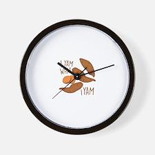 I Yam Wall Clock
