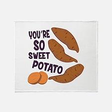 So Sweet Potato Throw Blanket