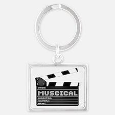 Unique Musical genres Landscape Keychain