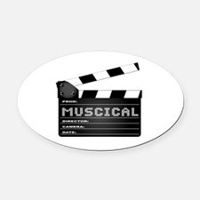Cute Musical genres Oval Car Magnet