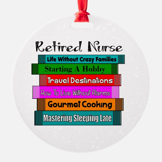 Retired Nurse Books Ornament