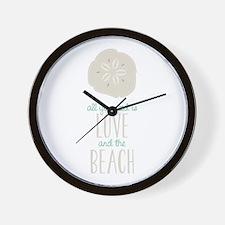 Love Beach Wall Clock