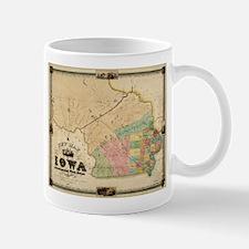 Vintage Map of Iowa (1845) Mugs