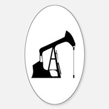 Cute Drilling rig Sticker (Oval)