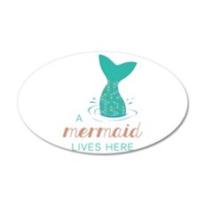 Mermaid Lives Here Wall Decal