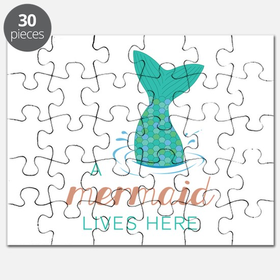 Mermaid Lives Here Puzzle
