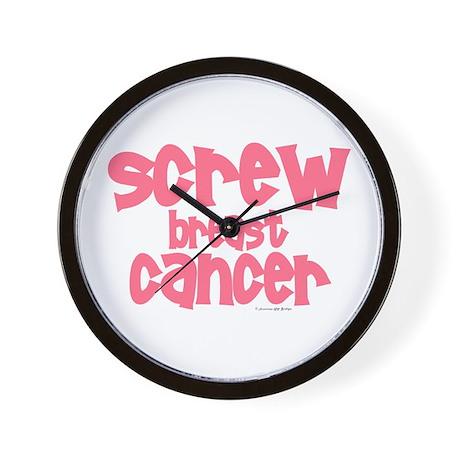 Screw Breast Cancer 1 Wall Clock