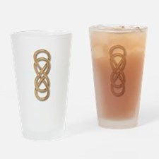 Double Infinity Cloisonne Rose Pink Drinking Glass