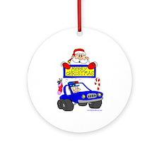 Christmas Shirt for COPs Ornament (Round)
