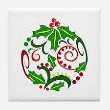Christmas Ornament Tile Coaster