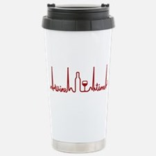 Wine Drinker Wine Time Travel Mug