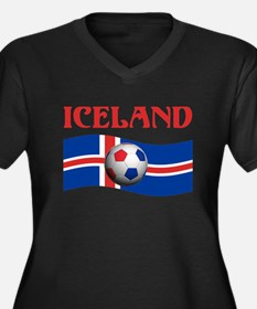 TEAM ICELAND WORLD CUP Women's Plus Size V-Neck Da