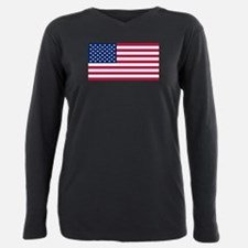 Unique America Plus Size Long Sleeve Tee