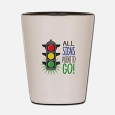 Point To Go Shot Glass