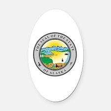 Cute Alaska state seal Oval Car Magnet