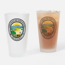 Unique Alaska state seal Drinking Glass