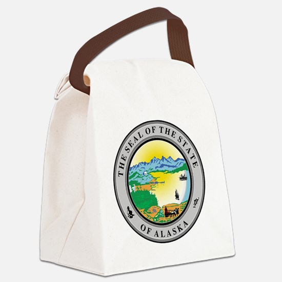 Cute Alaska state seal Canvas Lunch Bag