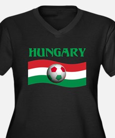 TEAM HUNGARY WORLD CUP Women's Plus Size V-Neck Da
