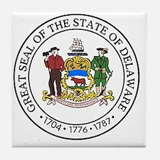 Unique Delaware Tile Coaster