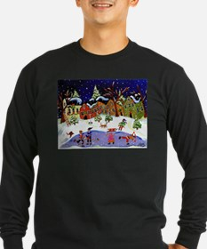 Folk Art Holiday Fun Long Sleeve T-Shirt