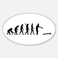 Evolution Cornhole Sticker (Oval)