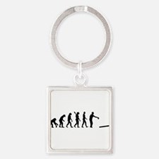 Evolution Cornhole Square Keychain