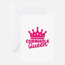 Cornhole queen Greeting Card