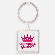 Cornhole queen Square Keychain