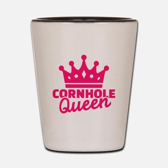 Cornhole queen Shot Glass