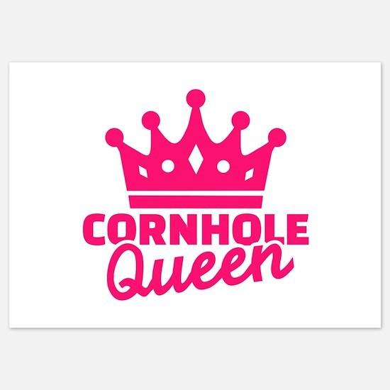 Cornhole queen 5x7 Flat Cards