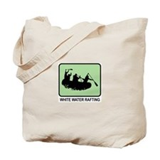 White Water Rafting (GREEN) Tote Bag