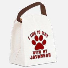I Like Play With My Javanese Cat Canvas Lunch Bag