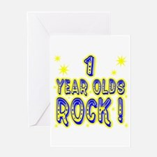 1 Year Olds Rock ! Greeting Card