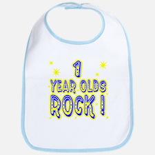 1 Year Olds Rock ! Bib