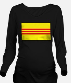 Flag of South Vietnam Long Sleeve Maternity T-Shir