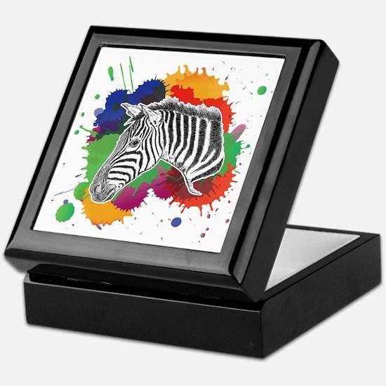 Funny Zebra Keepsake Box