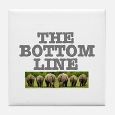 THE BOTTOM LINE - RHINOS Tile Coaster